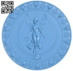 Round plate pattern A006242 download free stl files 3d model for CNC wood carving
