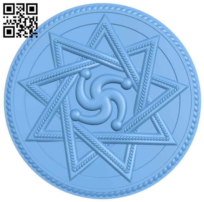 Round plate pattern A006244 download free stl files 3d model for CNC wood carving
