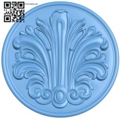 Round plate pattern A006246 download free stl files 3d model for CNC wood carving