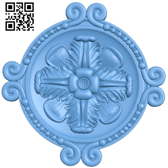 Round plate pattern A006249 download free stl files 3d model for CNC wood carving