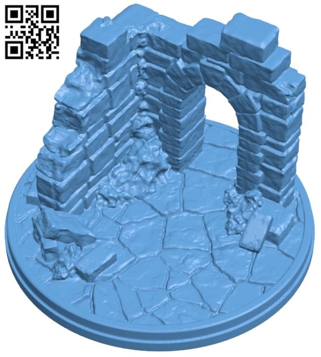 Ruins corner B009340 file obj free download 3D Model for CNC and 3d printer