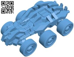 Rumbler – tank B009258 file obj free download 3D Model for CNC and 3d printer