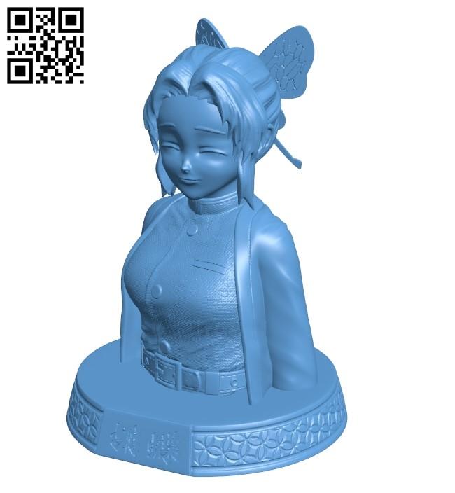 Shinobu kochou - women B009316 file obj free download 3D Model for CNC and 3d printer