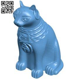 Sitting bastet  – cat B009363 file obj free download 3D Model for CNC and 3d printer