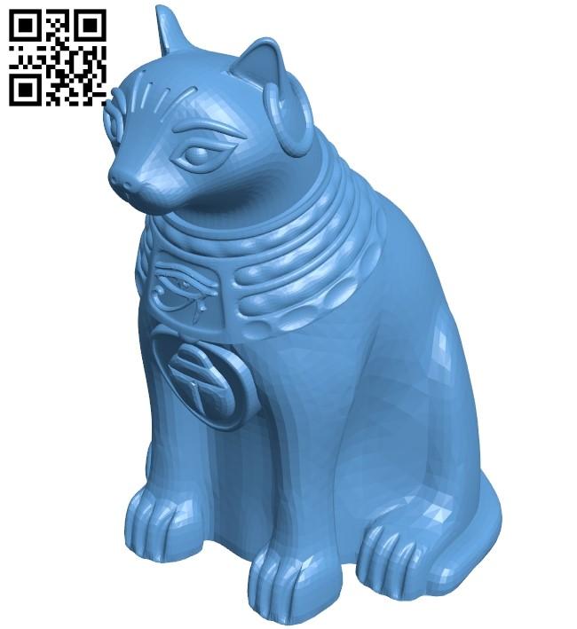 Sitting bastet - cat B009363 file obj free download 3D Model for CNC and 3d printer