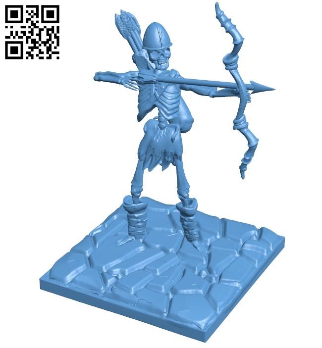 Skeleton Archer B009229 file obj free download 3D Model for CNC and 3d printer
