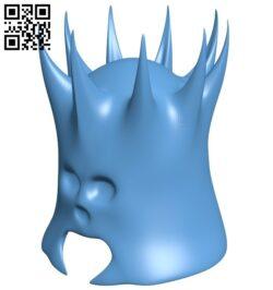 Skull helmet B009359 file obj free download 3D Model for CNC and 3d printer