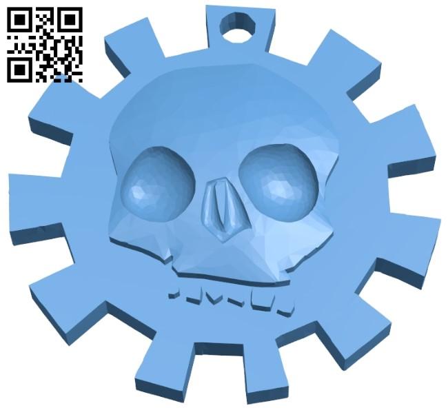 Skull keychain B009282 file obj free download 3D Model for CNC and 3d printer