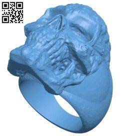Skull ringdef B009329 file obj free download 3D Model for CNC and 3d printer