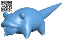 Slowpoke – pokemon B009249 file obj free download 3D Model for CNC and 3d printer