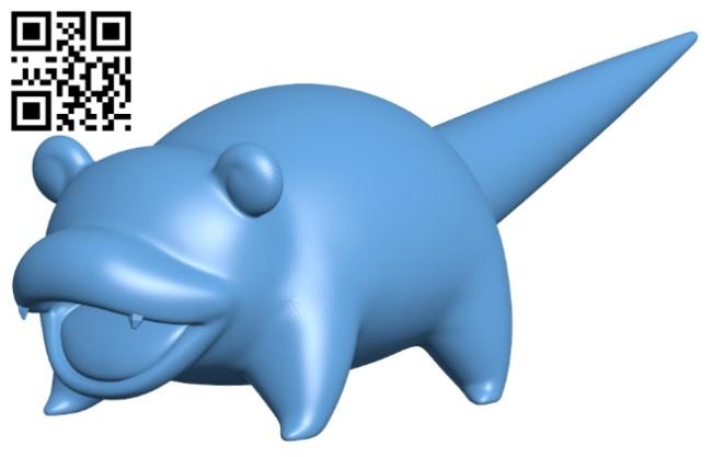 Slowpoke - pokemon B009249 file obj free download 3D Model for CNC and 3d printer