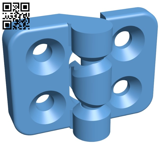 Snap on Hinge B009373 file obj free download 3D Model for CNC and 3d printer