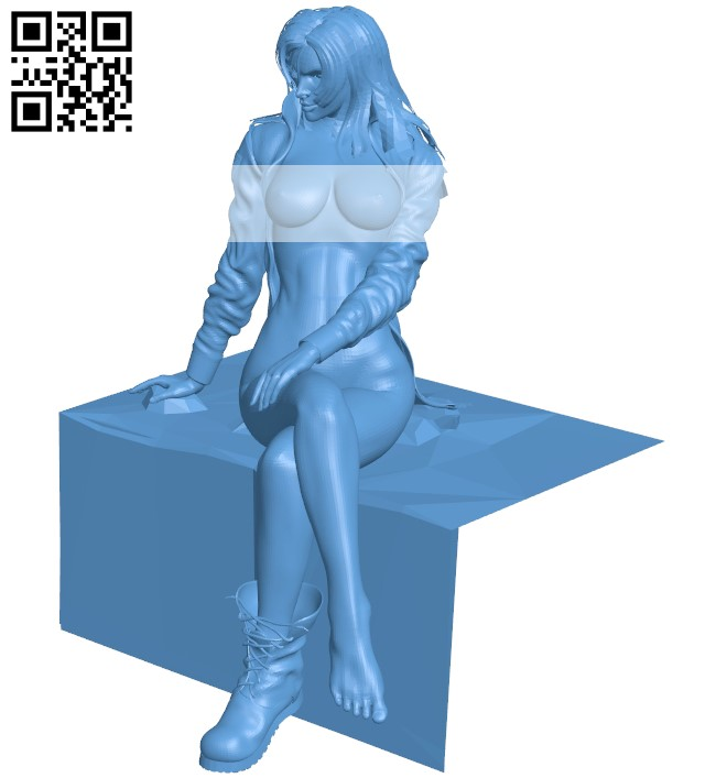 Sniper wolf - girl B009259 file obj free download 3D Model for CNC and 3d printer