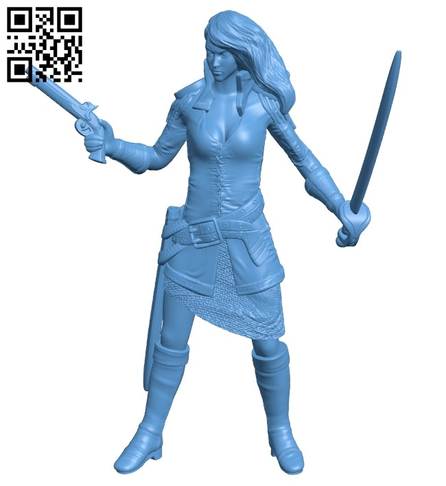 Soldier female B009338 file obj free download 3D Model for CNC and 3d printer