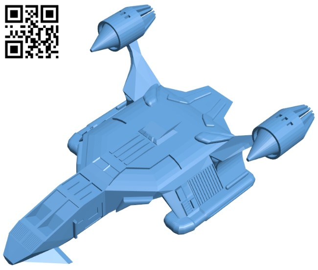 Spaceboat ship B009221 file obj free download 3D Model for CNC and 3d printer