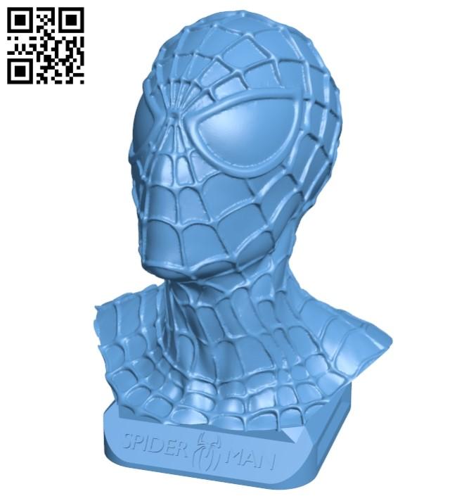 Spider Man Bust - superhero B009349 file obj free download 3D Model for CNC and 3d printer