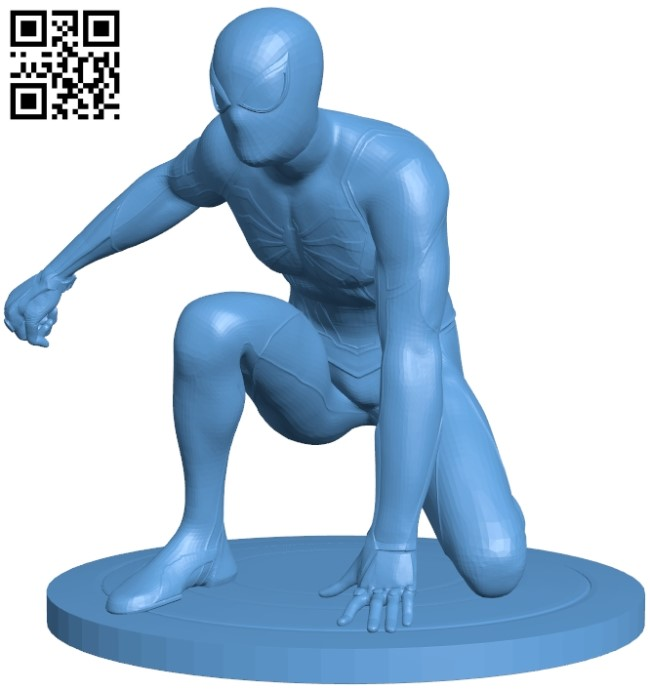 Spiderman - superhero B009265 file obj free download 3D Model for CNC and 3d printer