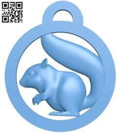 Squirrel keychain B009279 file obj free download 3D Model for CNC and 3d printer