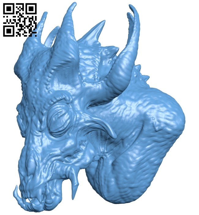 Strange dragon B009295 file obj free download 3D Model for CNC and 3d printer
