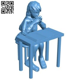 Student girl B009377 file obj free download 3D Model for CNC and 3d printer