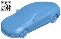 Tesla model S – car B009288 file obj free download 3D Model for CNC and 3d printer