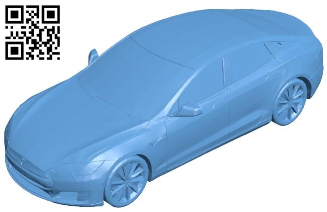 Tesla model S - car B009288 file obj free download 3D Model for CNC and 3d printer