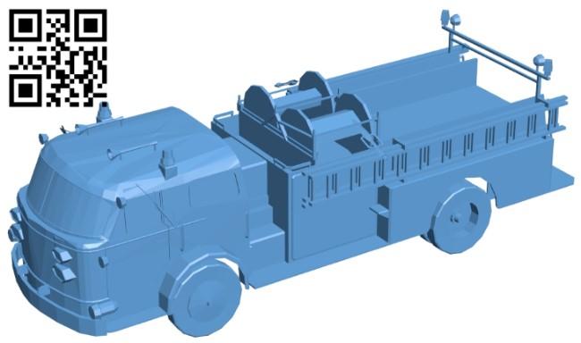 Truck pumper B009364 file obj free download 3D Model for CNC and 3d printer