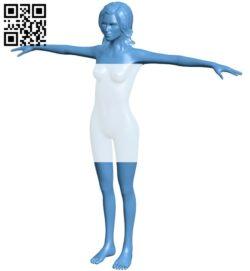 Women B009350 file obj free download 3D Model for CNC and 3d printer