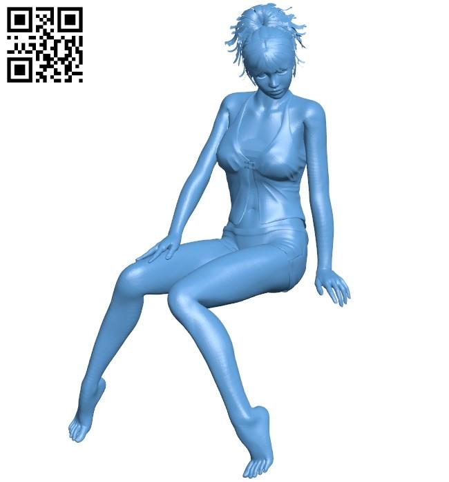 Women Pajamas B009285 file obj free download 3D Model for CNC and 3d printer