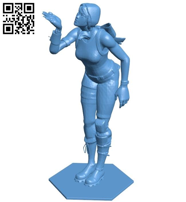 Women fortnite scarlet B009335 file obj free download 3D Model for CNC and 3d printer