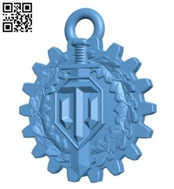 WotKey pendant B009348 file obj free download 3D Model for CNC and 3d printer