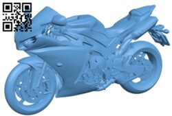 Yamaha YZF-R1 – motorbike B009304 file obj free download 3D Model for CNC and 3d printer