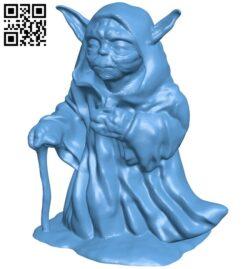 Yoda walking B009298 file obj free download 3D Model for CNC and 3d printer