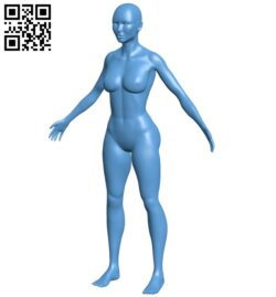 Woman B009297 file obj free download 3D Model for CNC and 3d printer