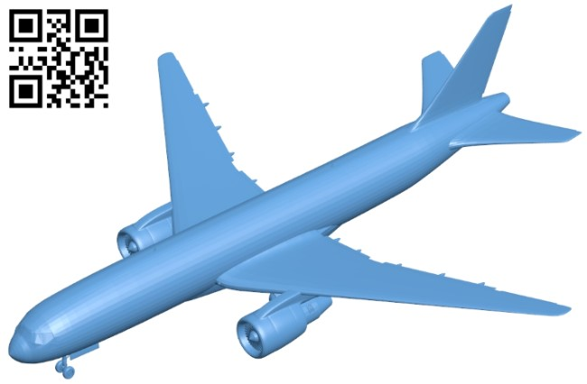 BOEING 777-200 - planes B009401 file obj free download 3D Model for CNC and 3d printer