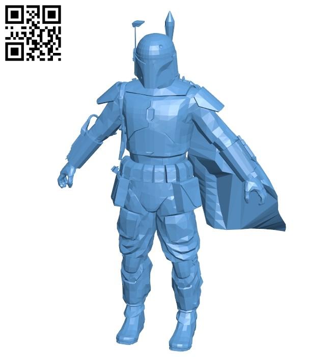 Boba Fett B009381 file obj free download 3D Model for CNC and 3d printer
