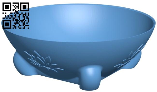 Bonsai planter bowl B009406 file obj free download 3D Model for CNC and 3d printer
