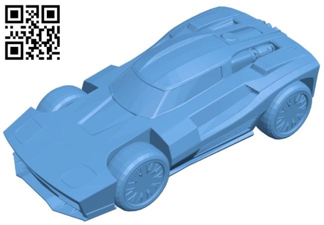 Breakout V1 - car B009410 file obj free download 3D Model for CNC and 3d printer