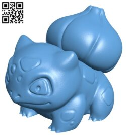 Bulbasaur – pokemon B009412 file obj free download 3D Model for CNC and 3d printer