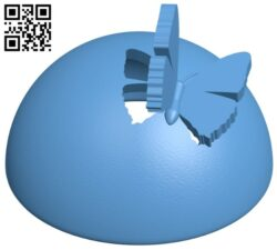 Butterfly lamp B009421 file obj free download 3D Model for CNC and 3d printer