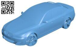 Car BMW M5 B009491 file stl free download 3D Model for CNC and 3d printer