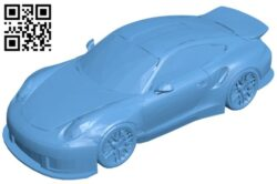 Car Painted 991 B009454 file obj free download 3D Model for CNC and 3d printer