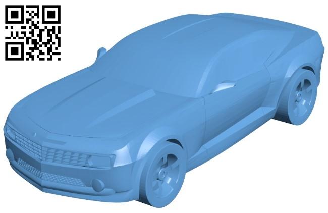 Car camaro 2011 B009441 file obj free download 3D Model for CNC and 3d printer