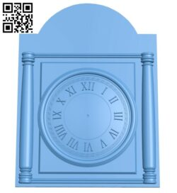 Clock face panel A006450 download free stl files 3d model for CNC wood carving