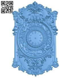 Clock face panel A006452 download free stl files 3d model for CNC wood carving