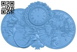Clock face panel A006455 download free stl files 3d model for CNC wood carving