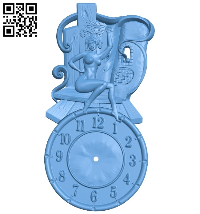 Clock face panel A006456 download free stl files 3d model for CNC wood carving