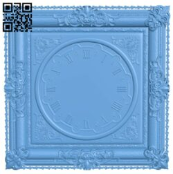 Clock face panel A006458 download free stl files 3d model for CNC wood carving