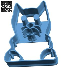 Cookie cutter Cat B009428 file obj free download 3D Model for CNC and 3d printer