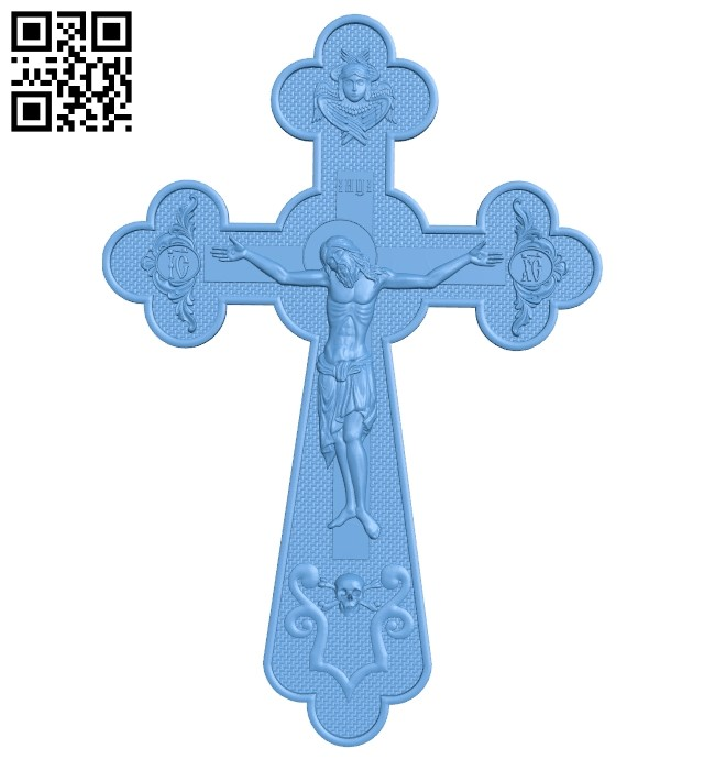 Cross symbol pattern A006341 download free stl files 3d model for CNC wood carving